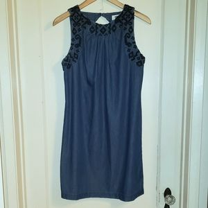 Old Navy blue denim strapless sundress Small